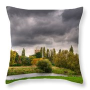 Great Barford River View Throw Pillow