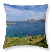 Great Blasket Island Throw Pillow