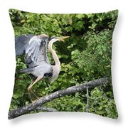 Great Blue Ballet Throw Pillow
