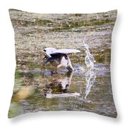 Great Blue Fishing Throw Pillow