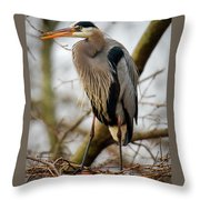 Great Blue Heron 1 Throw Pillow