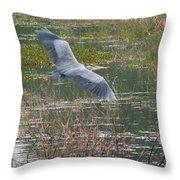 Great Blue Heron 2 Throw Pillow