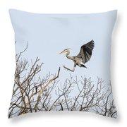 Great Blue Heron 2014-4 Throw Pillow