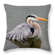 Great Blue Heron 3 Throw Pillow