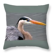Great Blue Heron 5 Throw Pillow