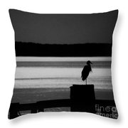 Evening On The York River Throw Pillow