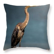 Great Blue Throw Pillow