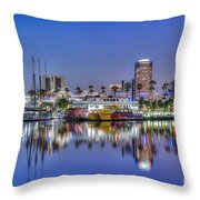 Great Blue Water Reflections Throw Pillow