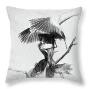 Great Blues II Sketch Throw Pillow