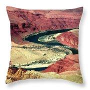 Great Color Colorado River Throw Pillow