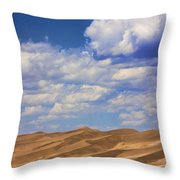 Great Colorado Sand Dunes Mixed View Throw Pillow