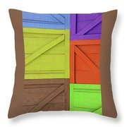 Great Crates - Multicolored Packing Boxes Stacked Throw Pillow