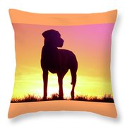 Great Dane Silhouette Throw Pillow