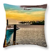 Great Day To Fish Throw Pillow