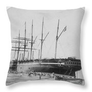 Great Eastern 1858-59 Throw Pillow