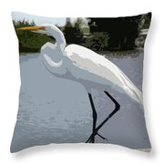 Great Egret    Ardea Alba Throw Pillow