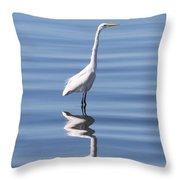 Great Egret - 2  Throw Pillow