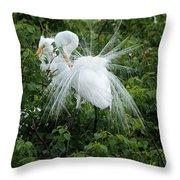 Great Egret Throw Pillow
