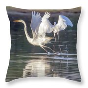 Great Egrets Throw Pillow