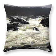 Great Falls Potomac River Maryland Throw Pillow