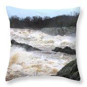 Great Falls Torrent Throw Pillow
