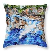 Great Falls Waterfall 201826 Throw Pillow
