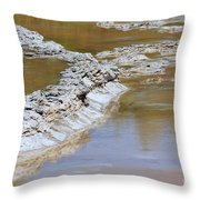 Great Fountain Geyser Firehole Lake Drive Throw Pillow