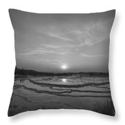 Great Fountain Geyser Sunset Bw Throw Pillow