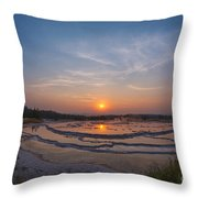 Great Fountain Geyser Sunset  Throw Pillow