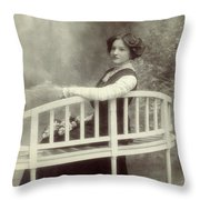 Great Grandmother Throw Pillow by Wim Lanclus