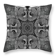 Great Gray Owl Stare Down Throw Pillow