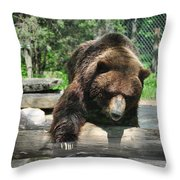 Great Grizzly's Throw Pillow