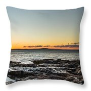 Great Head Beach Sunrise Throw Pillow