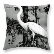 Great Heron Throw Pillow