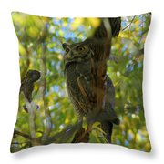 Great Horned Majesty Throw Pillow