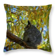 Great Horned Owl 2 Throw Pillow
