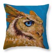 Gold Owl Throw Pillow