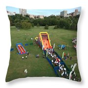 Great Inflatable Race Throw Pillow