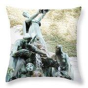 Great Lakes Fountain Throw Pillow