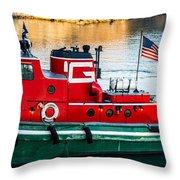Great Lakes Towing Tug Florida Throw Pillow