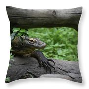 Great Look At A Komodo Monitor Lizard With Long Claws Throw Pillow