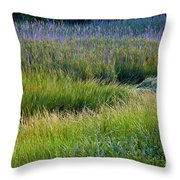 Great Marsh Grass Throw Pillow