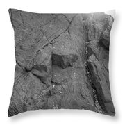 Great Mountains Of Central Park In Black And White Throw Pillow
