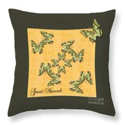 Great Nawab Butterfly Wheel Throw Pillow
