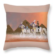 Great Pyramids And Nobility Throw Pillow