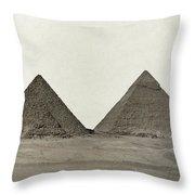 Great Pyramids Throw Pillow