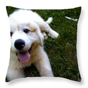 Great Pyrenees Puppy Throw Pillow