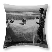 Great Rift Fishermen Throw Pillow