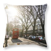 Great Russell St. In The Afternoon Throw Pillow