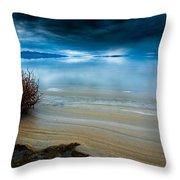 Great Salt Lake Shores Throw Pillow